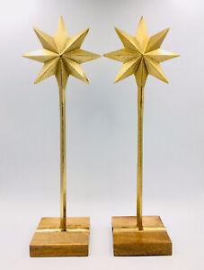 "2x Threshold Handmade Decorative Gold Stars 10"" x 4.4"""