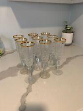 Wedgwood Royal Gold Crystal Gold Rimmed Fluted Champagne Goblet (s)