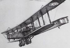 1934 PRINT HANDLEY PAGE 0/400 WW1 GREAT WAR PLANE 1914-18 HOWARD LEIGH