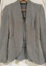 Willow Peplum wool Jacket Grey Front Zip Size 8