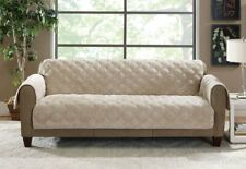 Sure Fit Plush Comfort Furniture Protector with Non Slip Backing, SOFA taupe