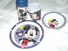 Mickey Mouse Plastic Bowls, Plates & Cups for Children