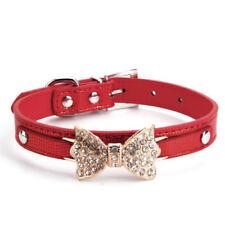 Colliers rouge en faux cuir pour chien