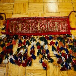 Antique Handmade Rug Afghanistan Decorative Donkey Pouch