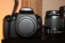 Canon EOS Rebel T6 DSLR Camera with 18-55mm II Lens and Wide Angle Lens.