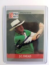 J. C.Snead 1990 Pro Set  PGA Hand Signed autographed Golf Card