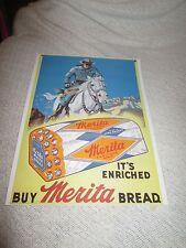 "Merita Bread The Lone Ranger Advertising  Print 11"" x 14"" ""it's Enriched"""