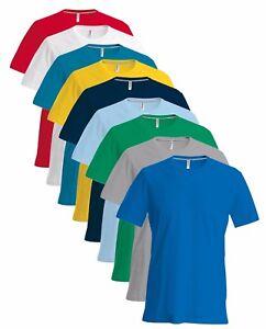 Kariban Hommes Uni 180gsm Coton Slim Ras Col Rond T-Shirt S-4XL