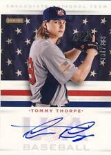 2013 Team USA Baseball TOMMY THORPE Autograph Auto 330/399 Cubs