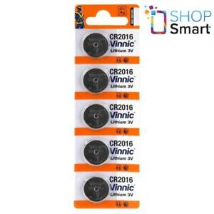5 VINNIC CR2016 LITHIUM BATTERIES 3V CELL COIN BUTTON EXP 2025 NEW