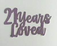 Custom Cake Topper Glitter Any Name Word Personalised - Lilac Glitter
