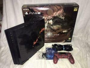 PlayStation 4 Pro MONSTER HUNTER WORLD LIOLAEUS EDITION Console JAPAN USED
