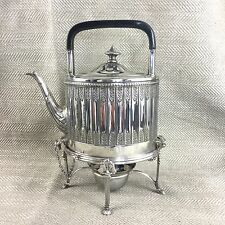 Antique Silver Plated Spirit Kettle Breakfast Teapot Rare Victorian Silverplate