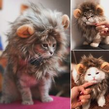 Funny Cute Cat Dog Costume Cosplay Lion Headgear Mane Wig Haloween Pet Cap Hat