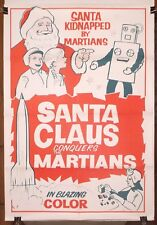 SANTA CLAUS CONQUERS the MARTIANS ~ 1964 one sheet movie poster ~ MST3K ~ 64-568