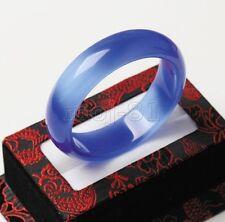 Gems Bracelet Women's Bangle 58-60mm Pretty Smooth Natural Blue Opal