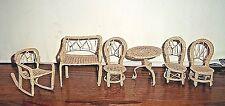 Vintage Doll House Patio Porch Set 6 Piece