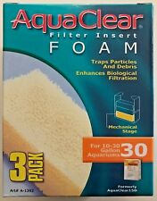 AquaClear 30 / 150 Filter Insert Foam Media 3 pack A-1392 A1392