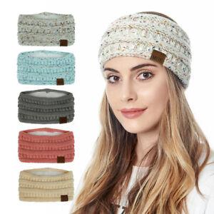 Damen Winter Warmer Stirnband Haarband Kopfband Ohrwärmer Strick Schleife Scarf