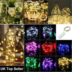 LED Micro Rice Wire Copper Fairy String Battery Lights Xmas Wedding Party 1M 2M