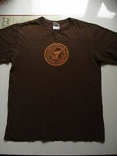 Adidas Brown Cotton Made In Canada T-Shirt, Size Medium, 44 Inch Chest.