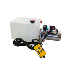 12 Volt Hydraulic Pump for Dump Trailer - 13 Quart Poly - Double Acting