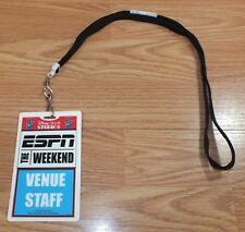 Disney MGM Studios The ESPN Weekend Venue Staff Card & Black Lanyard **READ**