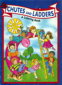 Chutes & Ladders coloring book RARE UNUSED