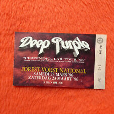 Deep Purple Used Concert Ticket Forest National Purpendicular Tour 1996