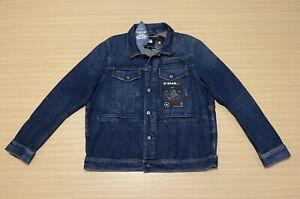 """G Star Raw Denim Jacket Mens ~ 2XL ~ New w/ Tags """" D - Staq 3D DC S """" Aged Style"""
