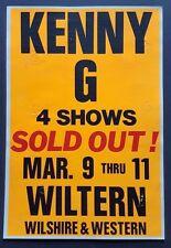 KENNY G Original Promo Concert Poster Andrea Bocelli Toni Braxton Michael Bolton