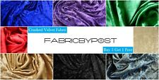 Crushed Velvet Fabric Soft Stretch Material Craft Upholstery Drape Bedding
