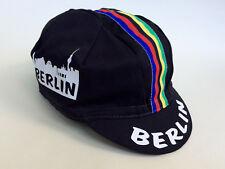 Rennrad-Mütze L, Cycling Vintage Cap, Berlin schwarz,  Retro Fixed Singlespeed