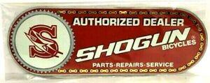 "Authorized Dealer Shogun Bicycles 4 1/2"" x 13 ""  Decal - Sticker NEW NOS RARE"