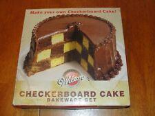 Wilton Checkerboard (Checker Board) Cake 3 Non-Stick Baking Pans Tin Divider Set