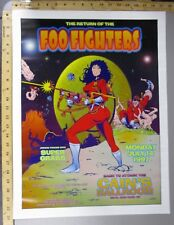 1997 Rock Concert Poster Foo Fighters Super Grass David Dean Cains Ballroom