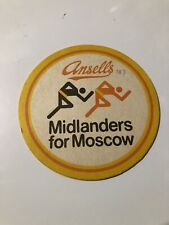 Ansells Brewery Beer Mat 'Midlanders From Moscow' no.107 (7.2)