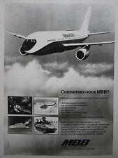 11/1975 PUB MBB AIRBUS A300B4 BO 105 MRCA TORNADO HELIOS ROLAND FRENCH AD