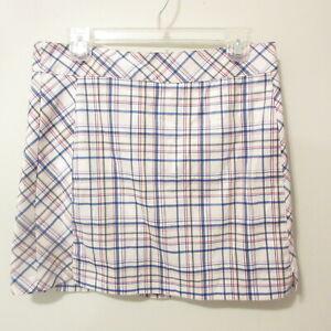 IZOD  Womens Size 6 Red White Blue Plaid Golf Skort Shorts Skirt