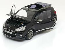 CITROEN DS3 CABRIOLET CONVERTIBLE BLACK 2012 GREY ROOF NOREV 181545 1/18 1:18