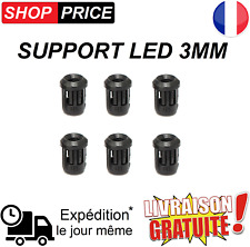 Lot 6 Supports pour LED 3mm (clip de fixation - douille)