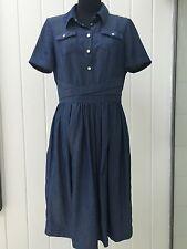 NEW KAREN MILLEN BLUE DENIM DRESS US 8 UK 12
