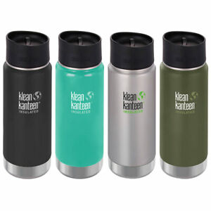 Klean Kanteen Insulated Wide Mouth Water Bottle Cafe Cup Leak Proof 473ml