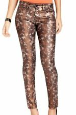 NWT ELSE BRONZED SNAKE COATED SKINNY JEANS SIZE 26  ... WOW!!!