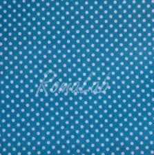 STOFFA 150 x 100 CM PER CUCITO creativo patchwork SCRAPBOOKING azzurro a pois