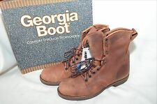 Rare Mens Georgia boots G8814 sz 13M Comfort core sole unlined leather USA made