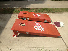 Iu Indiana University Cornhole Bag Toss Decals *4 Complete Decal Sets!*
