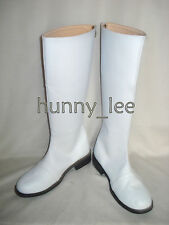 White Ranger SPD Cosplay Shoes Boots Custom-Made