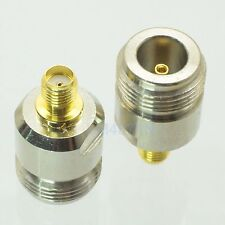 1pce Adapter N jack female to SMA female RF connector straight F/F