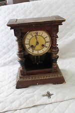 Antique German Junghans Cathedral Wooden Mantel Clock   Project